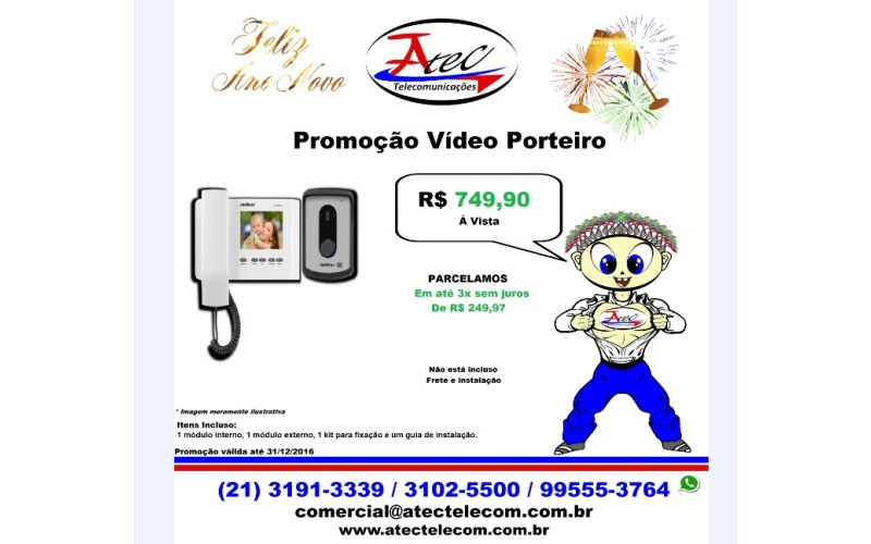 Super Promoção de Ano Novo Vídeo Porteiro
