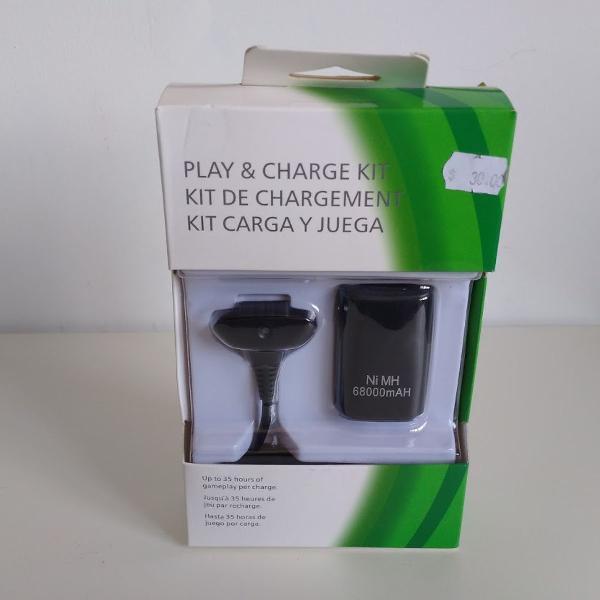 Baterias + Cabo Xbox 360 Carregador