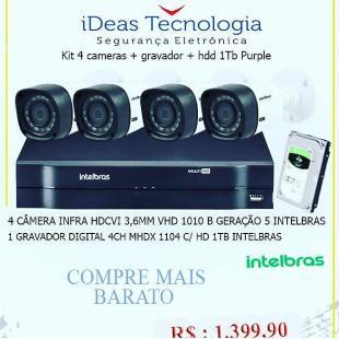 Kit de câmeras Intelbras
