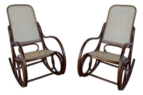 Par De Cadeira De Balanço Antiga Austriaca Thonet