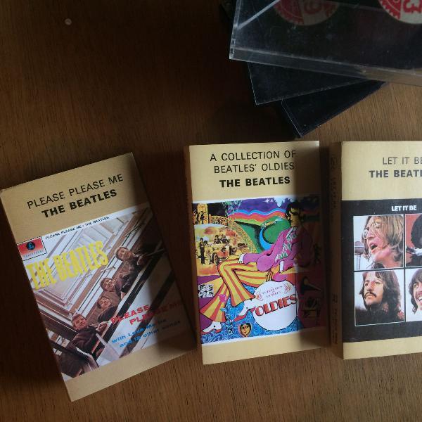 kit de três fitas cassete (k7) dos Beatles - Let it Be,