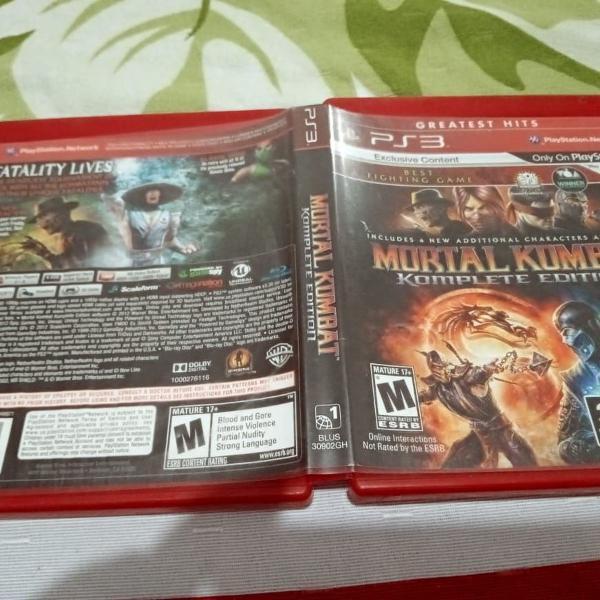 mortal kombat komplete edition legendado usado play3 117#