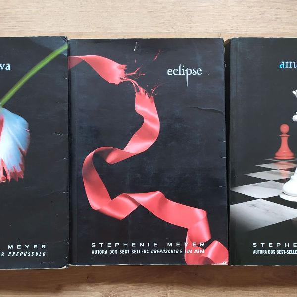 Livros Lua nova, Eclipse e Amanhecer
