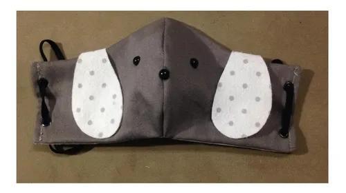 2 Máscara Infantil Tecido Facial Proteção Rosto Lavável