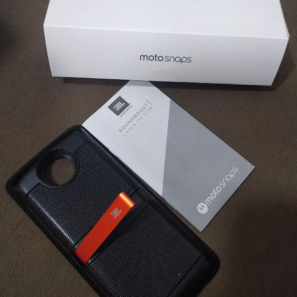 Caixa de som JBL (Motorola z play) - Moto Snap JBL