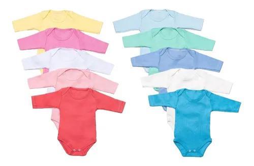 Kit 5 Body Bebês 1 A 3 Anos 100% Algodão Criança