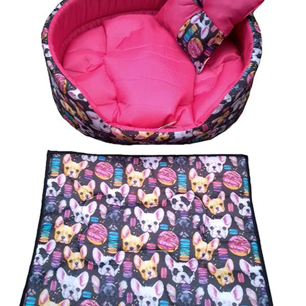 Kit cama europa M rosa para cachorros