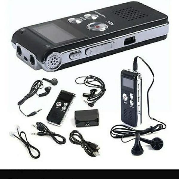 Mini gravador de voz digital recarregável
