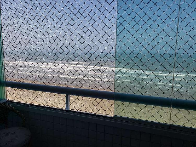 Apartamento de 2 dormitórios frente mar- Praia Grande