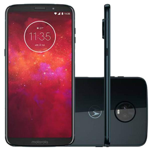 Smartphone Motorola Moto Z3 Play Indigo Dual Chip 64GB Tela