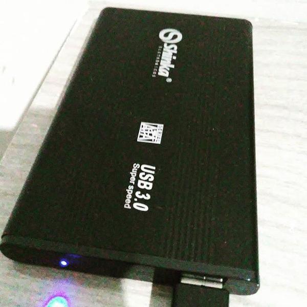 Case para HD externo USB 3.0 com capa de transporte