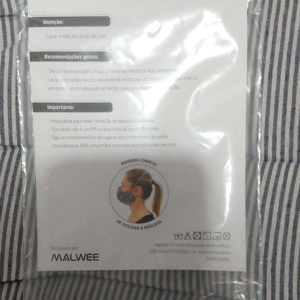 Kit 2 Máscara de proteção Malwee
