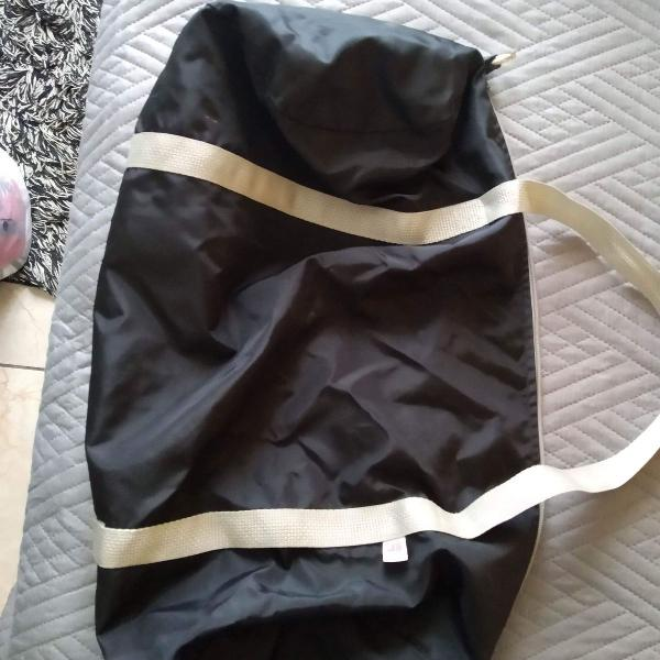 bolsa american apparel nova nylon preta importada made usa