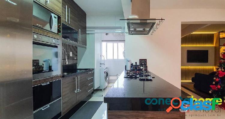 Apartamento mobiliado de 77 m², 3 dormitórios e 2 vagas no