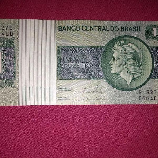 Cédula de 1 Cruzeiro da Princesa Isabel impecável anos 80