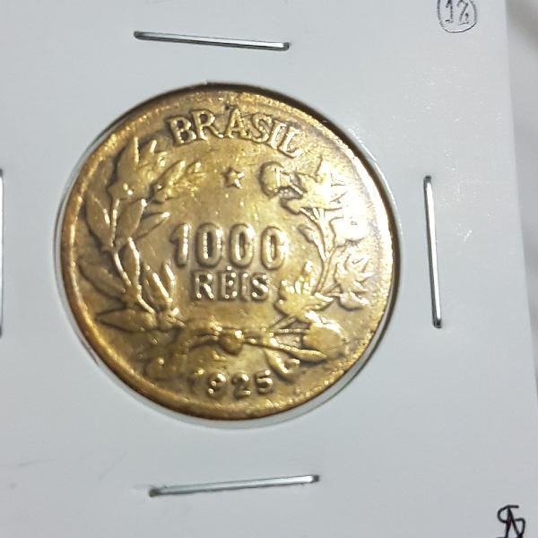 Moeda de 1.000 Reis do ano 1925 - Bronze-Alumínio