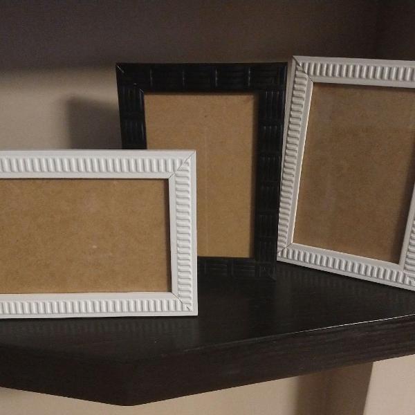 kit porta retrato com 3 unidades