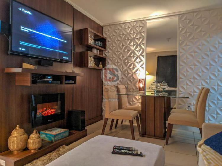 Apartamento SEMI MOBILIADO, 3 Quartos e 1 Vaga Coberta