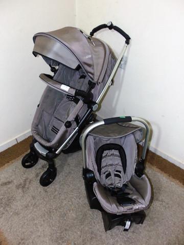 Kiddo Eclipse Marrom + Bebê Conforto Casulo + Base