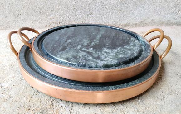 Kit 2 Chapa P/ Porção De Pedra Sabão 27Cm E 32cm