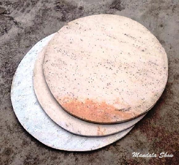 Pedra refrataria redonda para pizzas (35cm+brinde);