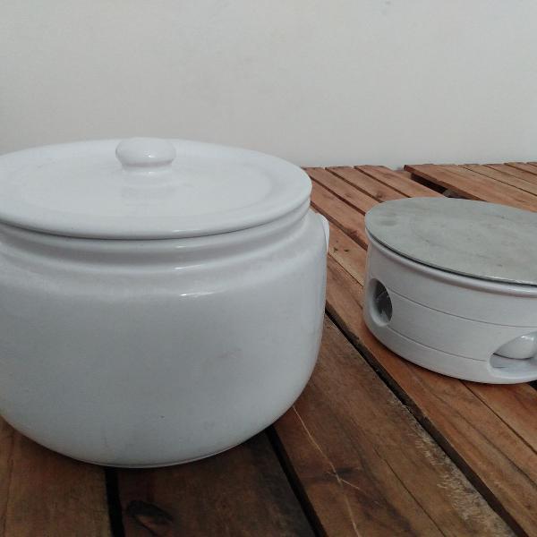 2 Kits completos Caçarola em cerâmica c/ tampa nº6 +
