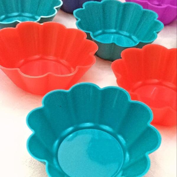 kit 6 formas de silicone para cupcake