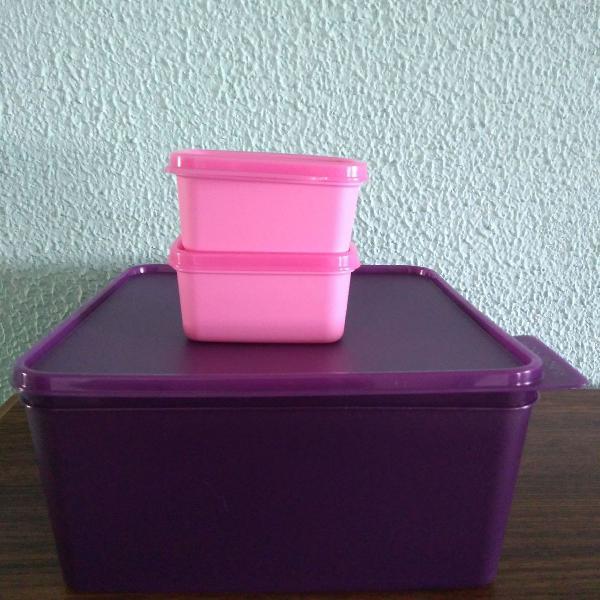 kit Basic line Tupperware com 3 peças