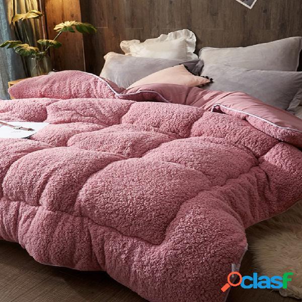 Cobertor 4kg Engrossar Shearling Inverno Soft Quilt Cama