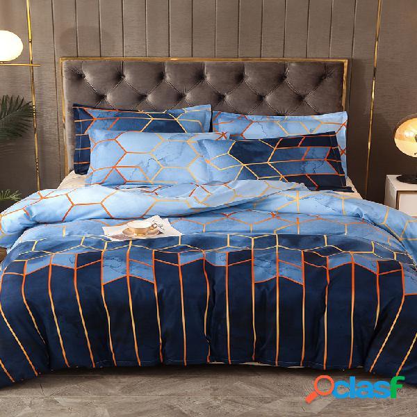 Conjunto de roupa de cama geométrica 2/3 unidades Conjuntos