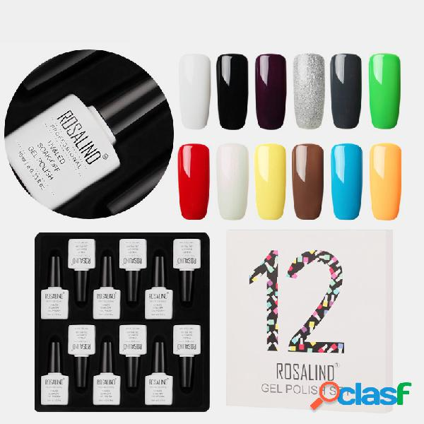 Kit polonês 12 Color Gel Unhas UV LED Gel de base superior