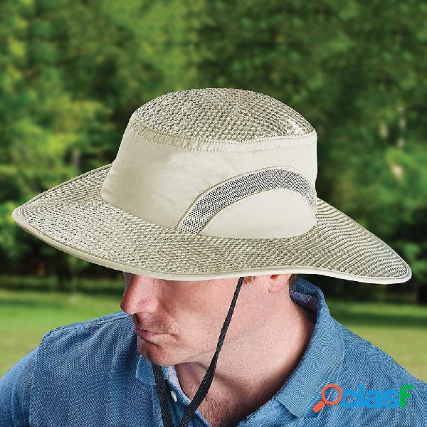 Protetor solar Resfriamento Chapéu Calota de gelo Balde de