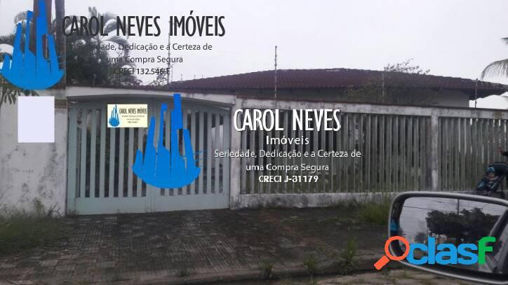 LINDA CASA COM EXCELENTE TERRENO À 100 METROS DA PRAIA!!!